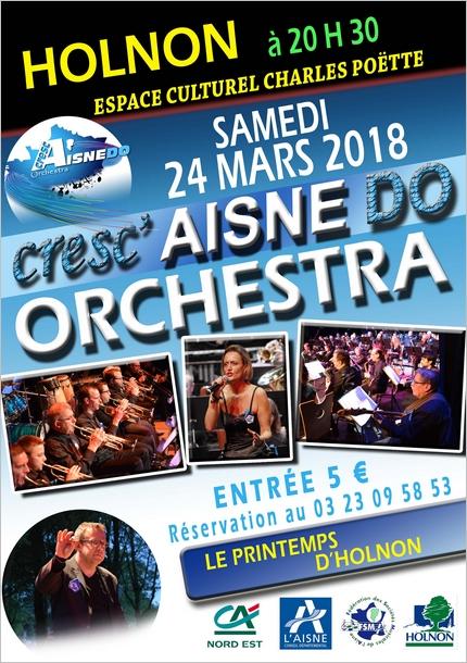 Affiche concert Cresc'Aisne Do - Printemps d'Holnon 2018