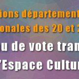 Elections 2021 - Bureau de vote transféré à l'espace culturel