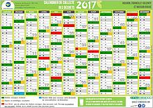 Calendrier de collecte des déchets ménagers 2017