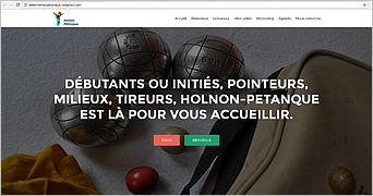 Site internet d'Holnon Pétanque