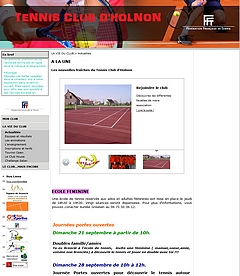 Site du Tennis Club d'Holnon