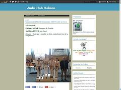 Site internet du Judo Club d'Holnon
