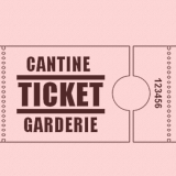 Ticket cantine garderie