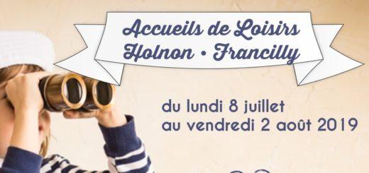 Accueils de loisirs Holnon Francilly 2019