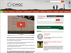 Site internet de la Commonwealth War Graves Commission