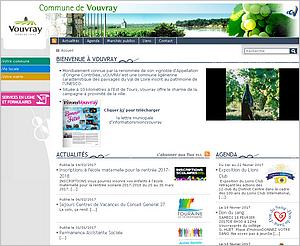 Site internet de la ville de Vouvray