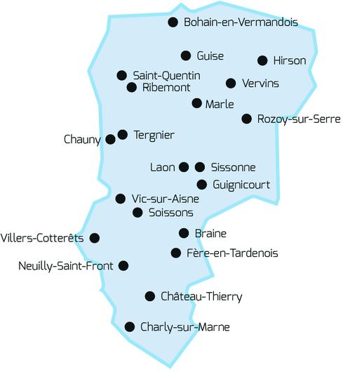 Cartes communes Aisne équipées pour CNI