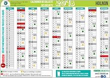 Calendrier de collecte des déchets ménagers d'avril à décembre 2018
