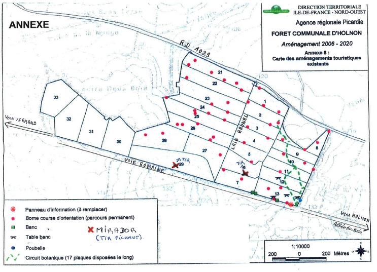 Plan bois Holnon - Chasse miradors