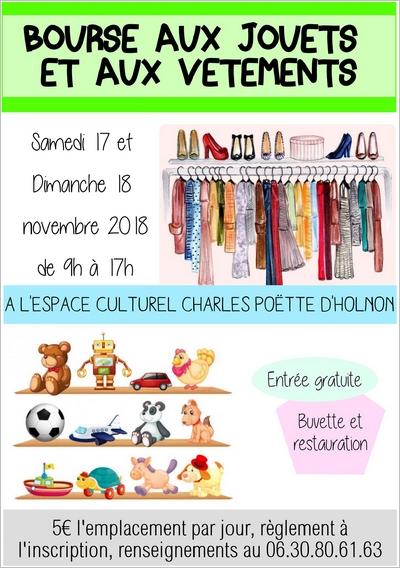 Affiche bourse aux jouets et aux vêtements 2018