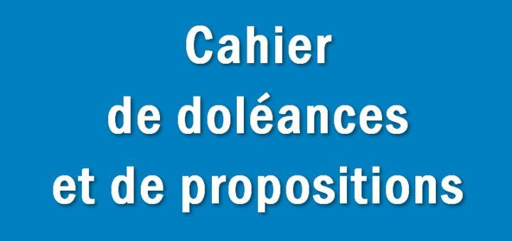 Cahier de doléances et de propositions