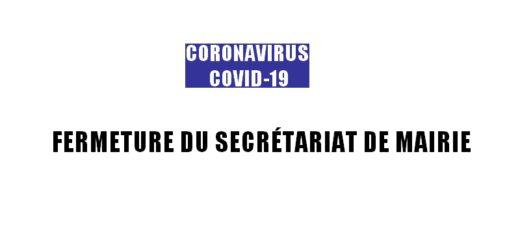 Coronavirus COVID-19 - Fermeture secrétariat de mairie