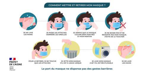 Comment mettre et retirer mon masque ?