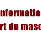 Information port du masque