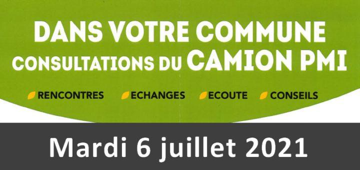 Consultations du camion PMI - 6 juillet 2021 - Holnon