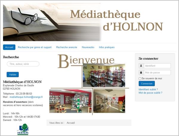 Site internet de la médiathèque