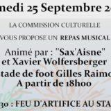Repas musical et feu d'artifice - 25.09.2021
